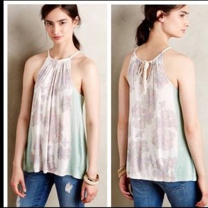 Anthro Deletta Soren Silk Blend Lily Halter Top